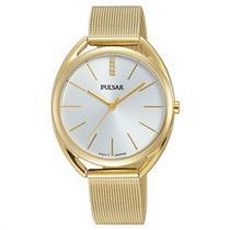 Pulsar Watch PG2038 Ladies Fashion. Gold Tone: Case, Mesh Bracelet. 50% Off MSRP