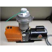 Alcatel 2015 Rotary Vane Vacuum Pump w/Franklin Electric Motor 1/2 HP, 1725 RPM