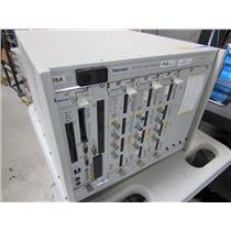 Tektronix TLA721 Benchtop Logic Analyzer Mainframe w/ 3x TLA7AA4