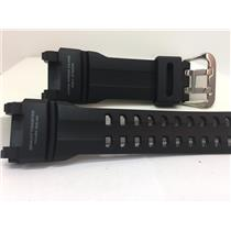Casio Watchband GRB-100 1A3. Gravity Master Black Resin Strap. Gray Backside