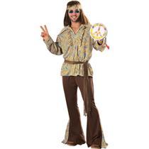 Men's Mod Marvin Adult 60's 70's Hippie Costume Standard Size