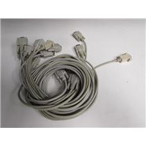 Serial Cable DB9 9-Pin RS-232 Male to Female M/F, lot of 9