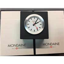 Mondaine Swiss Railways Mini Clock A660.30318.84 Black.Steel Case,Swiss Movement