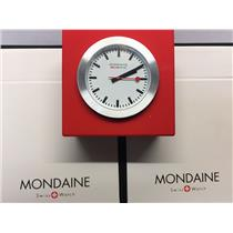 Mondaine Swiss Railways Mini Clock A660.30318.84 Red.Steel Case,Swiss Movement