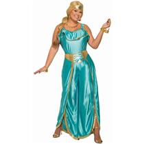 Baby Blue Jasmine Harem Girl Genie Princess Costume Plus Size 16-22