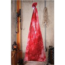 6ft. Bloody Body in a Bag Halloween Party Haunted House Decoration Prop