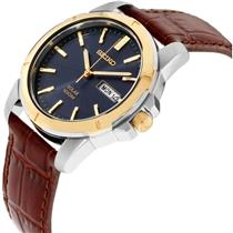 Seiko SNE102 Mans Two Tone Watch w/Day Date. Solar. 100m Water Resistant.