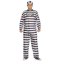 Jailbird Black and White Adult Prisoner Costume