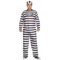 Jailbird Black and White Adult Prisoner Costume