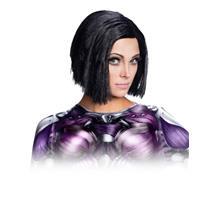 Battle Angel Adult Alita Costume Wig Black