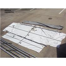 Boaters' Resale Shop of TX 1908 1127.01 NAUTICAT 43 CUSTOM AWNING WITH 2 POLES
