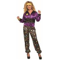 80's Women's Track Suit Retro Adult Costume Standard