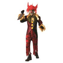 Crazy Clown Evil Jester Adult Costume Size X-Large