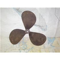 "Boaters' Resale Shop of TX 1908 2745.05 BRONZE 3 BLADE 19RH14 PROP - 1.25"" SHAFT"