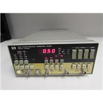 HP 8116A Programmable Pulse/Function Generator, 1 mHz - 50 MHz Opt: 001