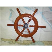 "Boaters' Resale Shop of TX 1909 1024.01 WOODEN 27"" GRAND BANKS SHIPS WHEEL"