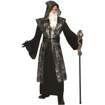 Dark Wizard Robe Black Witch Adult Costume Plus