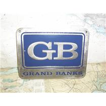 "Boaters' Resale Shop of TX 1909 1024.94 GRAND BANKS 6"" x 8"" STAINLESS NAME PLATE"
