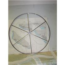 """Boaters' Resale Shop of TX 1904 1452.01 STAINLESS 40"""" STEERING WHEEL - 1"""" SHAFT"""