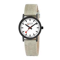 Mondaine Watch A660.30323.61SBG Ladies Classic Black.Swiss,Canvas Leather Strap