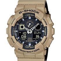 Casio Watch GA-100 L8ACR. Military Sand G-shock. New. Original Box and Warranty