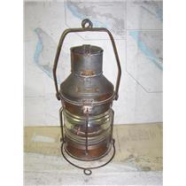 Boaters' Resale Shop of TX 1912 1445.67 METEORITE VINTAGE BRASS ANCHOR LIGHT