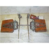 Boaters' Resale Shop of TX 1311 0105.20 VINTAGE BRONZE WOODEN SPREADER HARDWARE