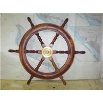 "Boaters' Resale Shop of TX 1912 2722.01 DECORATIVE 30"" WOODEN SHIP'S WHEEL"