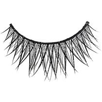 Cross Lashes With Glitter Silver and Black