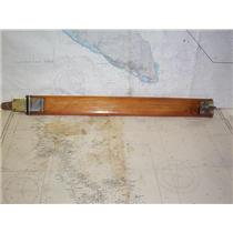 "Boaters' Resale Shop of TX 1804 2425.14 VINTAGE TEAK RAIL 28"" GATE WITH HARDWARE"