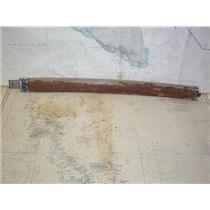 "Boaters' Resale Shop of TX 1804 2425.17 VINTAGE TEAK RAIL 28"" GATE WITH HARDWARE"