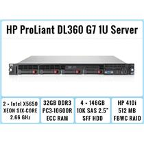 HP ProLiant DL360 G7 1U Server 2×Six-Core Xeon 2.66GHz + 32GB RAM + 4×146GB 10K