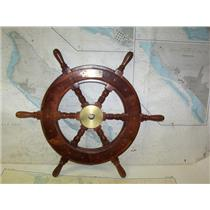 """Boaters' Resale Shop of TX 2005 0525.01 WOODEN 24"""" SHIPS WHEEL FOR 7/8"""" SHAFT"""