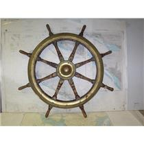 """Boaters' Resale Shop of TX 2005 1754.05 WOODEN 26"""" SHIPS WHEEL FOR 1-7/16"""" SHAFT"""