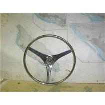 """Boaters' Resale Shop of TX 2006 1422.02 STAINLESS 18"""" STEERING WHEEL- 3/4"""" SHAFT"""
