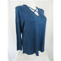 Lane Bryant Size 18/20 Heather Blue Long Sleeve Athleisure Top with Hood