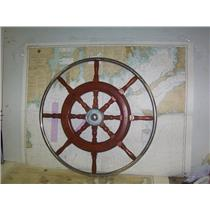 "Boaters' Resale Shop of TX 2008 1521.01 TEAK 30"" STEERING WHEEL FOR 1""  SHAFT"