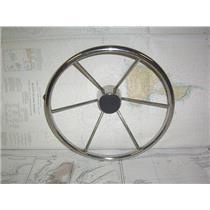 "Boaters' Resale Shop of TX 2012 1127.02 STAINLESS 16"" STEERING WHEEL-3/4"" SHAFT"