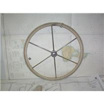 "Boaters' Resale Shop of TX 2012 1775.02 ROPE WRAPPED 20"" STEERING WHEEL 1"" SHAFT"