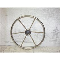 "Boaters' Resale Shop of TX 2101 0424.02 STAINLESS 16"" STEERING WHEEL-3/4"" SHAFT"