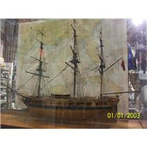 """Boaters' Resale Shop of TX 2107 2442.01 SAILING SHIP MODEL """"ALERT 1793"""" IN GLASS"""