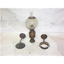 Boaters' Resale Shop of TX 2108 2141.72 VINTAGE MARINE CABIN GIMBALED OIL LAMP