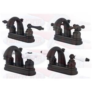 "Bathroom Faucets Kingston kingston brass kb5615 4"" centerset bathroom sink faucet - oil"