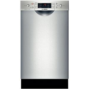 "BOSCH 18"" 4 Wash Cycles 46 dBA Full Console Dishwasher stainless SPE5ES55UC IM"