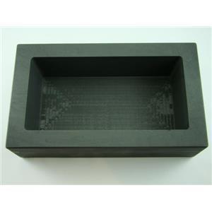 200 oz Gold 100 oz Silver High Density Graphite Mold Bar Loaf Scrap Copper