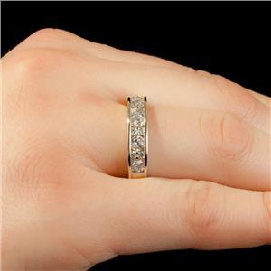 Ladies 14k White Gold Round Cut Diamond Anniversary Band / Ring 1.04ctw