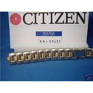 Citizen Watch Band AN5020 ECO-Drive. Ladies Two Tone Gold/Silver Bracelet