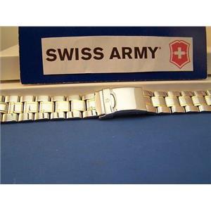 Swiss Army Watch Band 1884 Bracelet 2 Tone w/pins