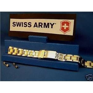 Swiss Army Watch Band Officers Ladies Bracelet Two Tone