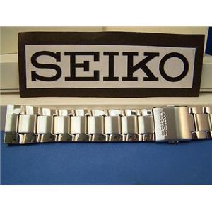 Seiko Watch Band SNAC25 Steel Bracelet w/Push Button Release Buckle